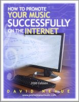 How to successfully Promote Your Music online